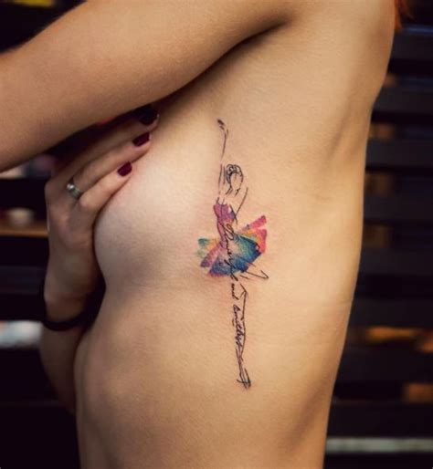 ballerina tattoo colorful dancer dancer dancers and