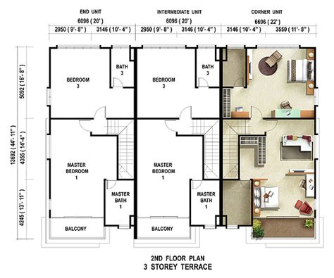 terraced house floor plans caribea casuarina setia pearl island penang property