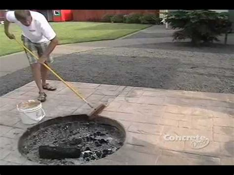 Backyard Cement Patio Ideas Restoring Color To A Stamped Concrete Patio Youtube