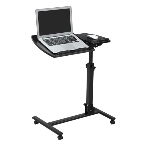 Portable Standing Laptop Desk by Laptop Overbed Table Adjustable Rolling Portable Mobile