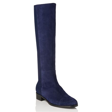 l k l k bambra knee high boots in blue lyst
