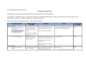 bcp test plan template exle business continuity plan