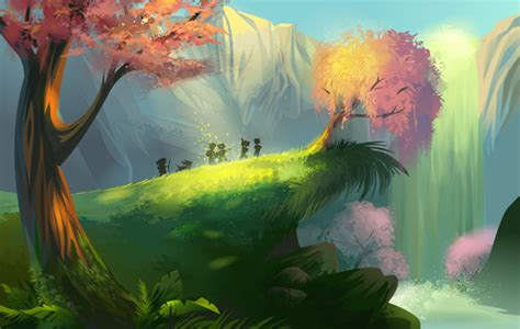 tutorial illustrator landscape create a magical vector landscape in adobe illustrator