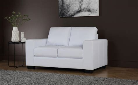 cheap white leather sectional sofa mission white leather sofa 2 seater only 163 329 99 furniture choice