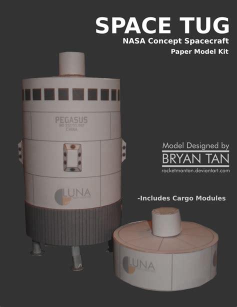 nasa space tug papercraft papercraft paradise
