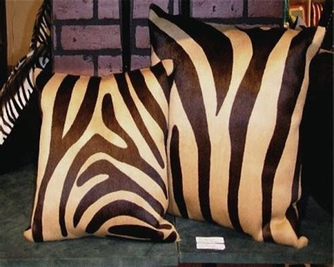 brown and beige zebra rug zebra print cowhide decorative throw pillow brown and beige
