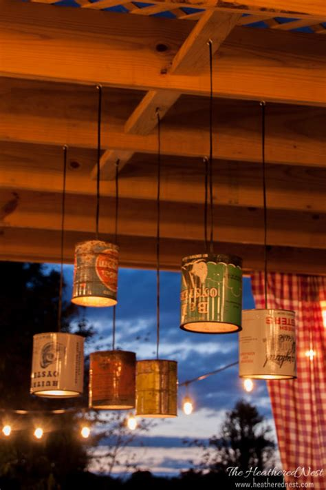 Outdoor Can Lighting Tin Can Diy Outdoor Lighting Tutorial You Can Do This The Heathered Nest