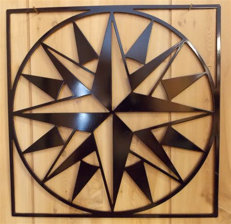 12 mariner s compass metal quilt square wall hanging