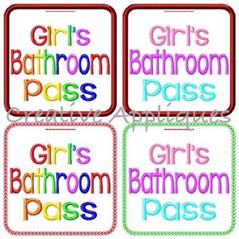 girls bathroom pass boys and girls bathroom pass set