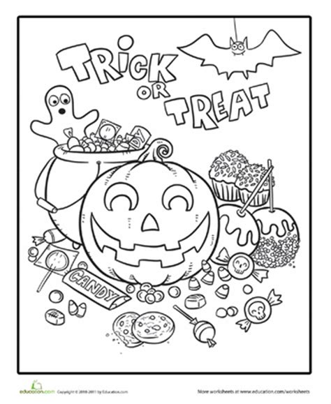 halloween coloring pages 3rd grade cute halloween coloring pages education com
