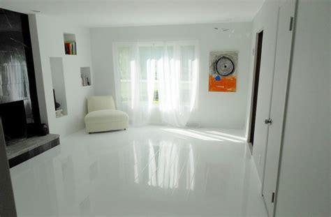 Trending Now   White High Gloss Flooring