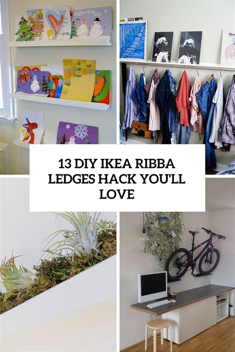 ikea ledges 13 diy ikea ribba ledges hacks you will shelterness