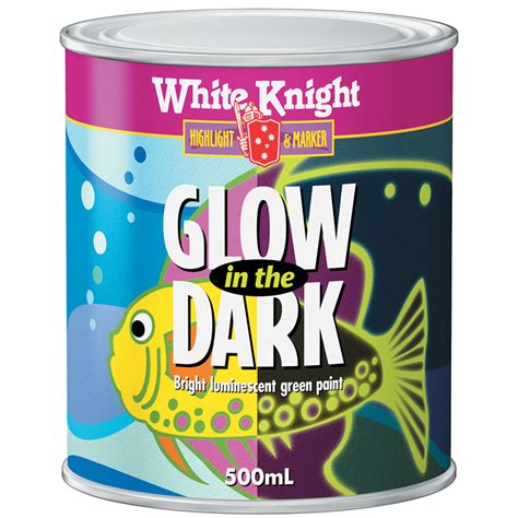 White 500ml Green Glow In The Paint Bunnings