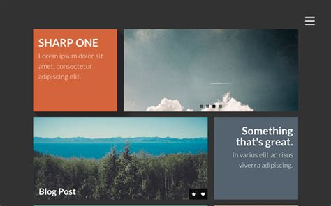 sharp one responsive one page template portfolios