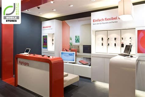 store mobili mobile stores vodafone shops germany 187 retail design