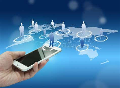 new generation mobile globalization or social network concept background stock