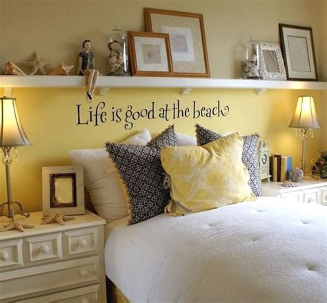 how to decorate your bed awesome above the bed beach themed decor ideas