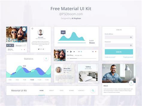 google design online free material ui kit psd