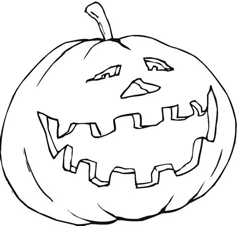 Smiling Pumpkin Coloring Pages | pumpkin coloring pages coloring pages to print