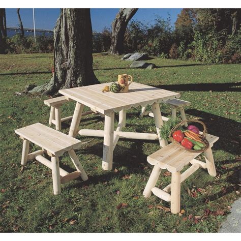 Cedar Patio Furniture Sets Rustic Cedar Furniture Company Set Of 2 Cedar Log Benches 107381 Patio Furniture At
