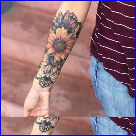 sunflower sleeve tattoo bracelet bracelet meaning