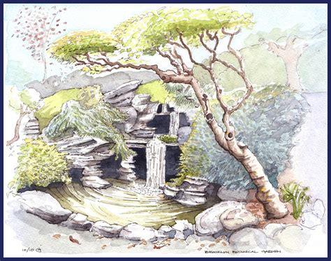 japanischer garten zeichnung park slope sketch october 2010