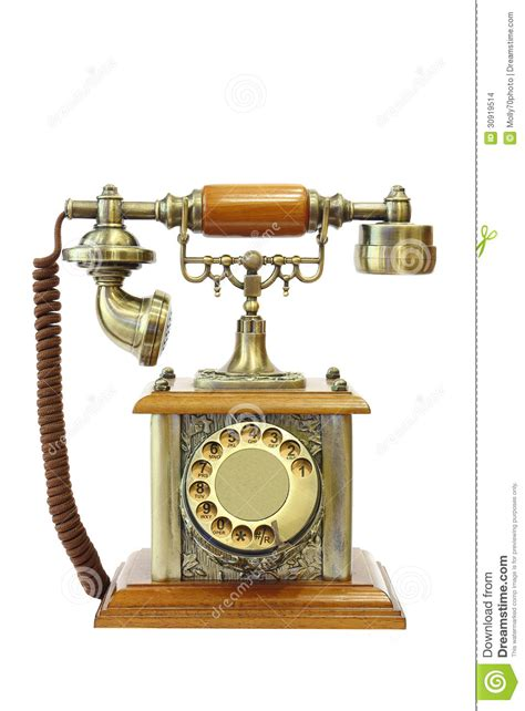 old vintage images old vintage telephone on white background stock images