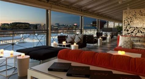 Roof Top Bars In Dc by At The W Hotel Dc Clubbing
