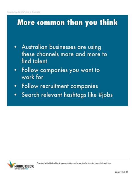 Search For In Australia Search Tips For 457 In Australia