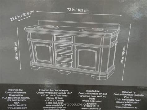 costco 72 sink vanity with backsplash lanza 72 inch sink vanity with granite top