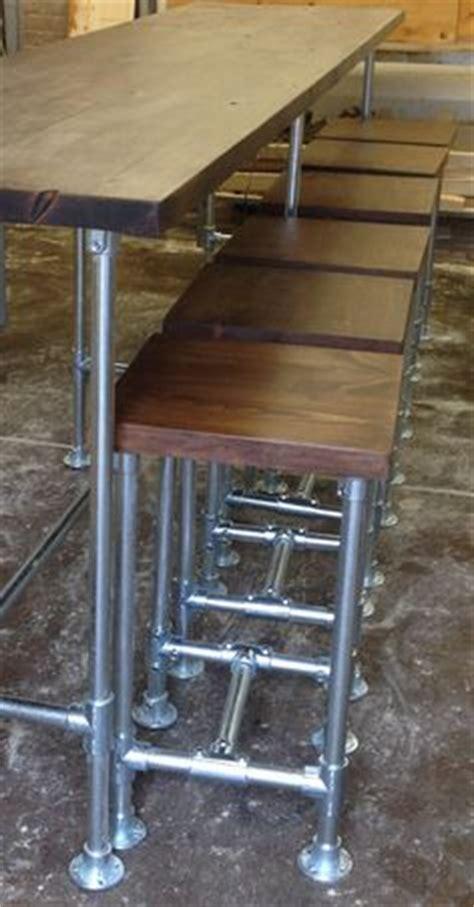 Diy Suspended Bar Stools by 제품설명 고무나무 원목 30t와 흑관 파이프 25a 34mm 로 제작된 파이프 테이블입니다