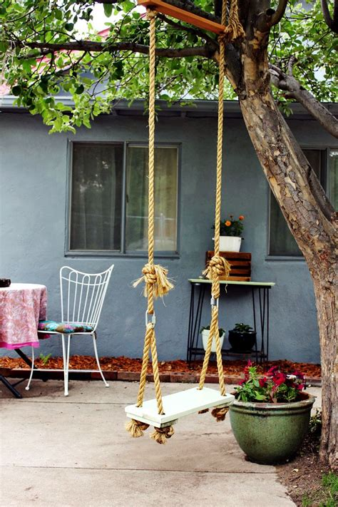 how to make a backyard swing make your own tree swing a beautiful mess