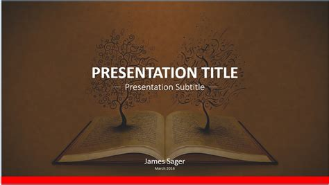 free book art powerpoint template 8739 sagefox