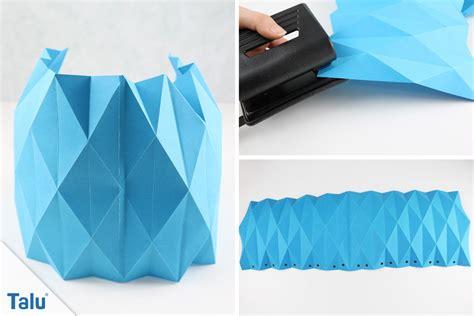 was kann mit papier basteln origami le falten lenschirm aus papier basteln