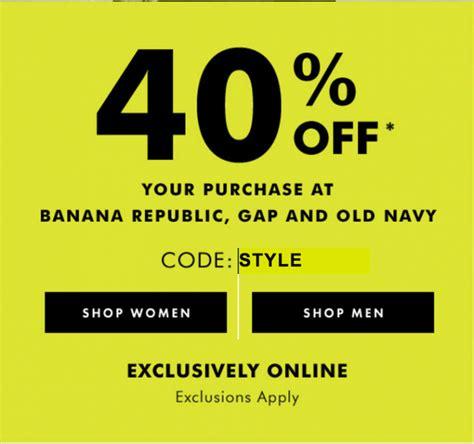 free shipping at banana republic the gap old navy banana republic gap and old navy canada offers save 40