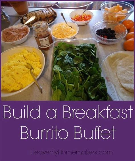 breakfast buffet items ideas 25 best ideas about burrito bar on taco salad