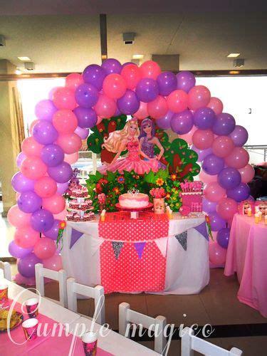 decoracion de mesas para fiestas infantiles ambientaci 243 n barbie y la princesa del pop cumple suenos