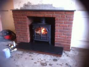 brick built fireplace
