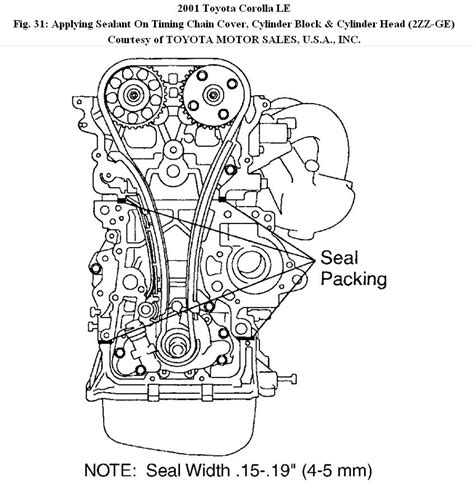2004 toyota corolla timing chain 1992 toyota corolla engine timing chain diagram