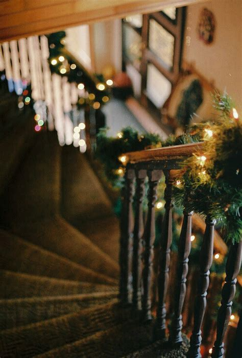 christmas lights for stair banisters banister christmas decorations pictures photos and