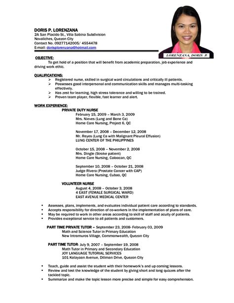 Comprehensive Resume Sample For Nurses by Resume Template Professional Curriculum Vitae Format