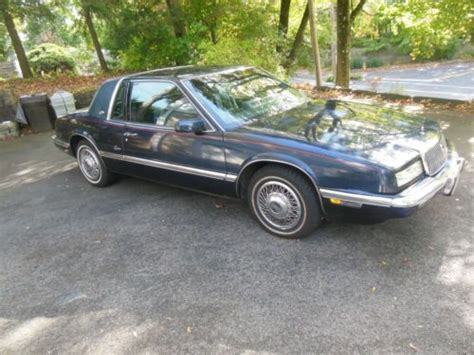 automobile air conditioning service 1989 buick riviera electronic toll collection find used 1989 buick riviera navy blue coupe only 36 000 miles automatic extreme gem in cos cob