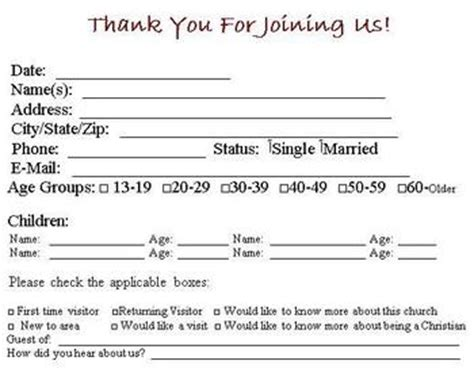 ms publisher template church visitors card visitor card template you can customize