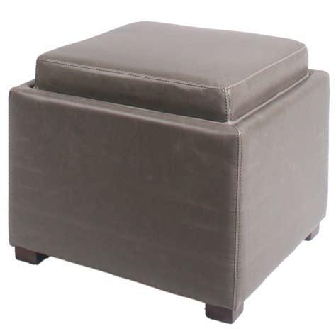 gray leather storage ottoman gray leather storage ottoman