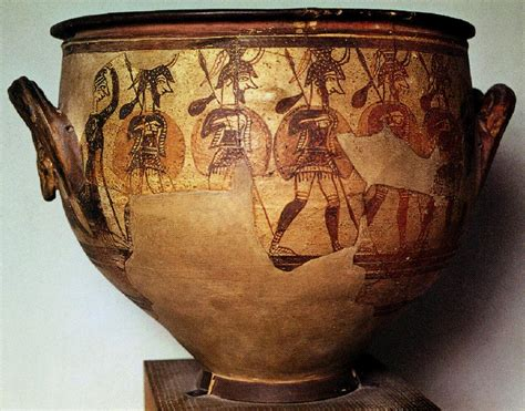 Mycenaean Warrior Vase by Cwidahohumanities Licensed For Non Commercial Use Only