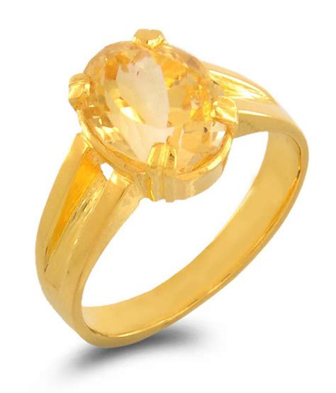 Citrin Golden Zero barish gems sunhela citrine golden topaz 5 dhatu ring buy