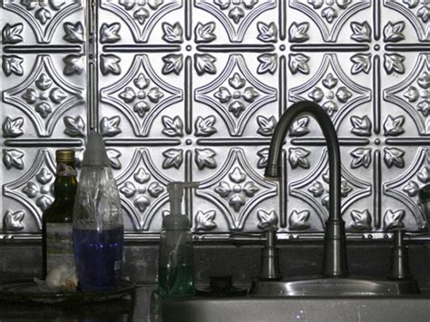 Kitchen Tin Backsplash Stainless Steel Backsplashes Kitchen Designs Choose Kitchen Layouts Remodeling Materials
