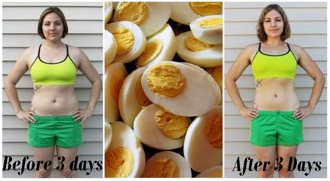Egg Diet Before And After Pictures diet with eggs lose 3 kg in just 3 days