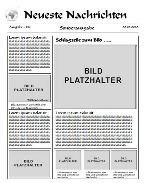 Word Vorlage Zeitungslayout Zeitungsartikel Vorlage Suche German Language Classroom German Language