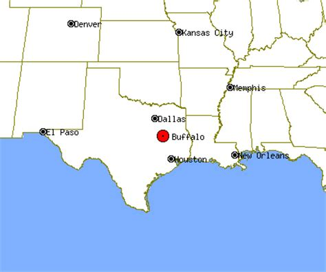 buffalo texas map buffalo profile buffalo tx population crime map